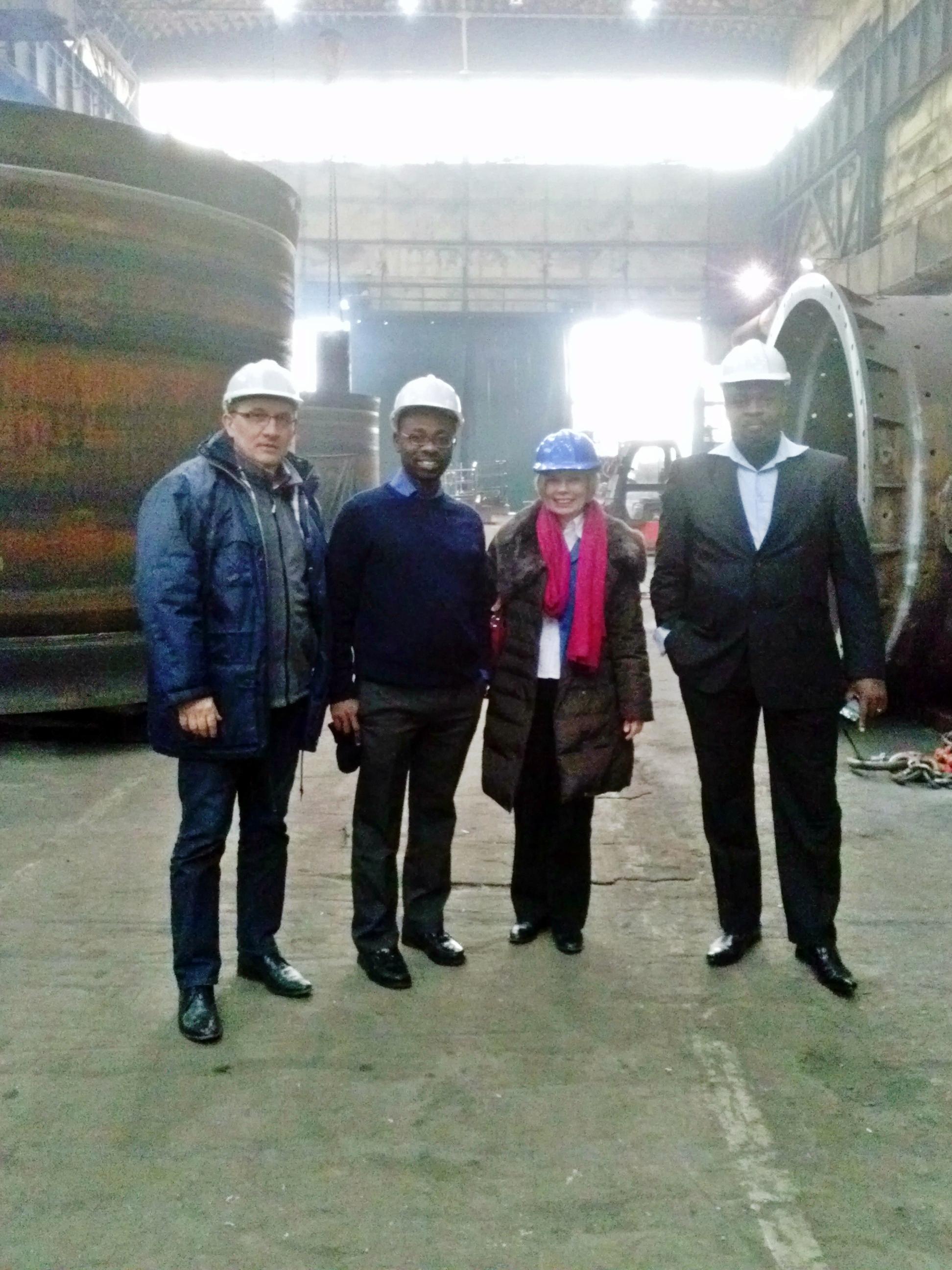Goście z Afryki odwiedzili fabrykę MAKRUM