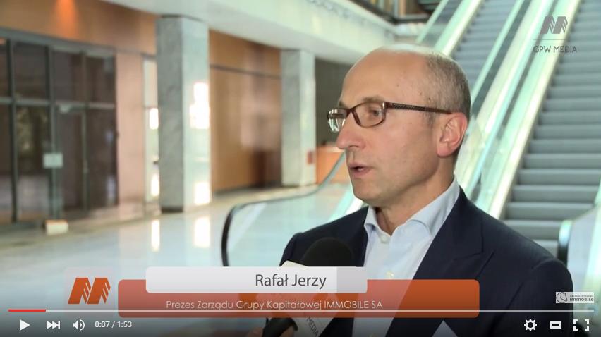 Prezes GK IMMOBILE o perspektywach – wypowiedź Rafała Jerzego dla GPW Media