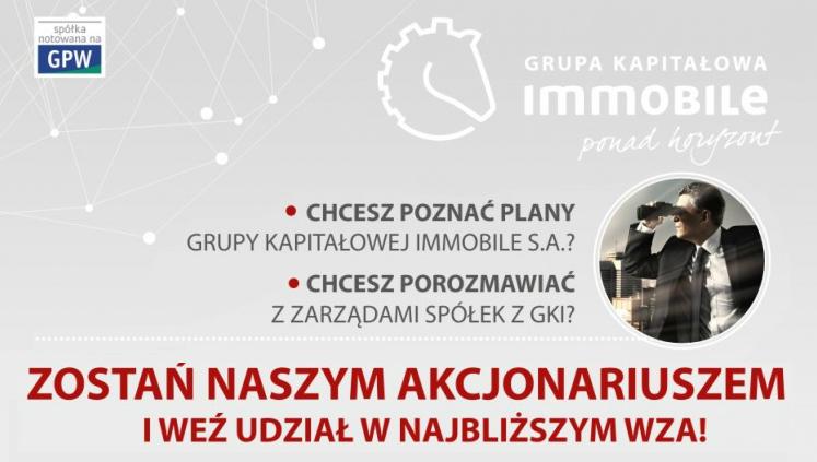 Zapowiedź Walnego Zgromadzenia Akcjonariuszy GK IMMOBILE – 29 czerwca 2016