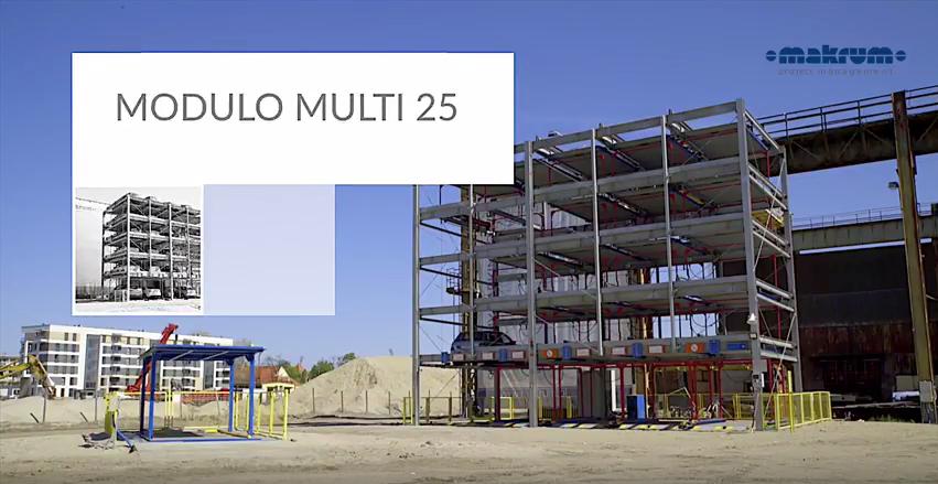 Spektakularne parkowanie na 25-stanowiskowym systemie MODULO