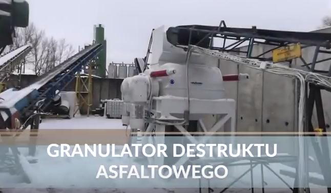 Realizacja Granulatora Destruktu Asfaltowego (video)
