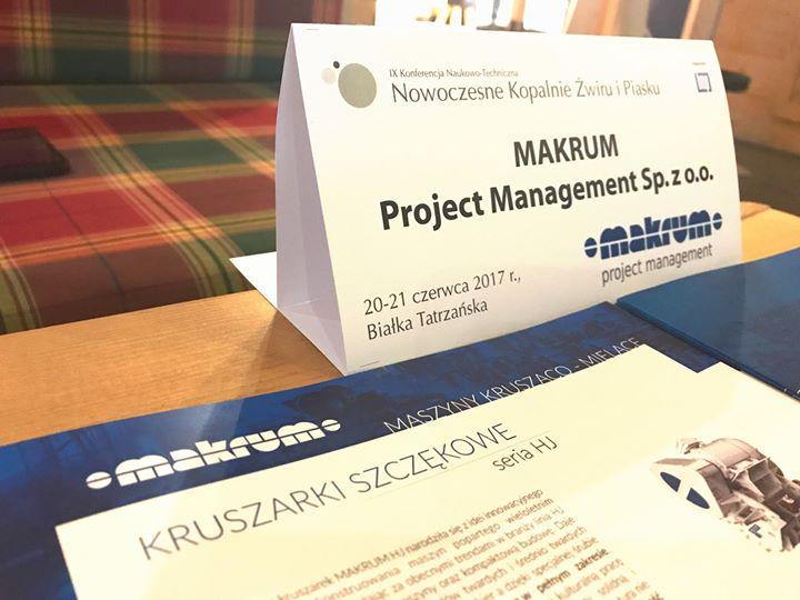 MAKRUM z prezentacją dla branży wydobywczej podczas Konferencji Nowoczesne Kopalnie Żwiru i Piasku