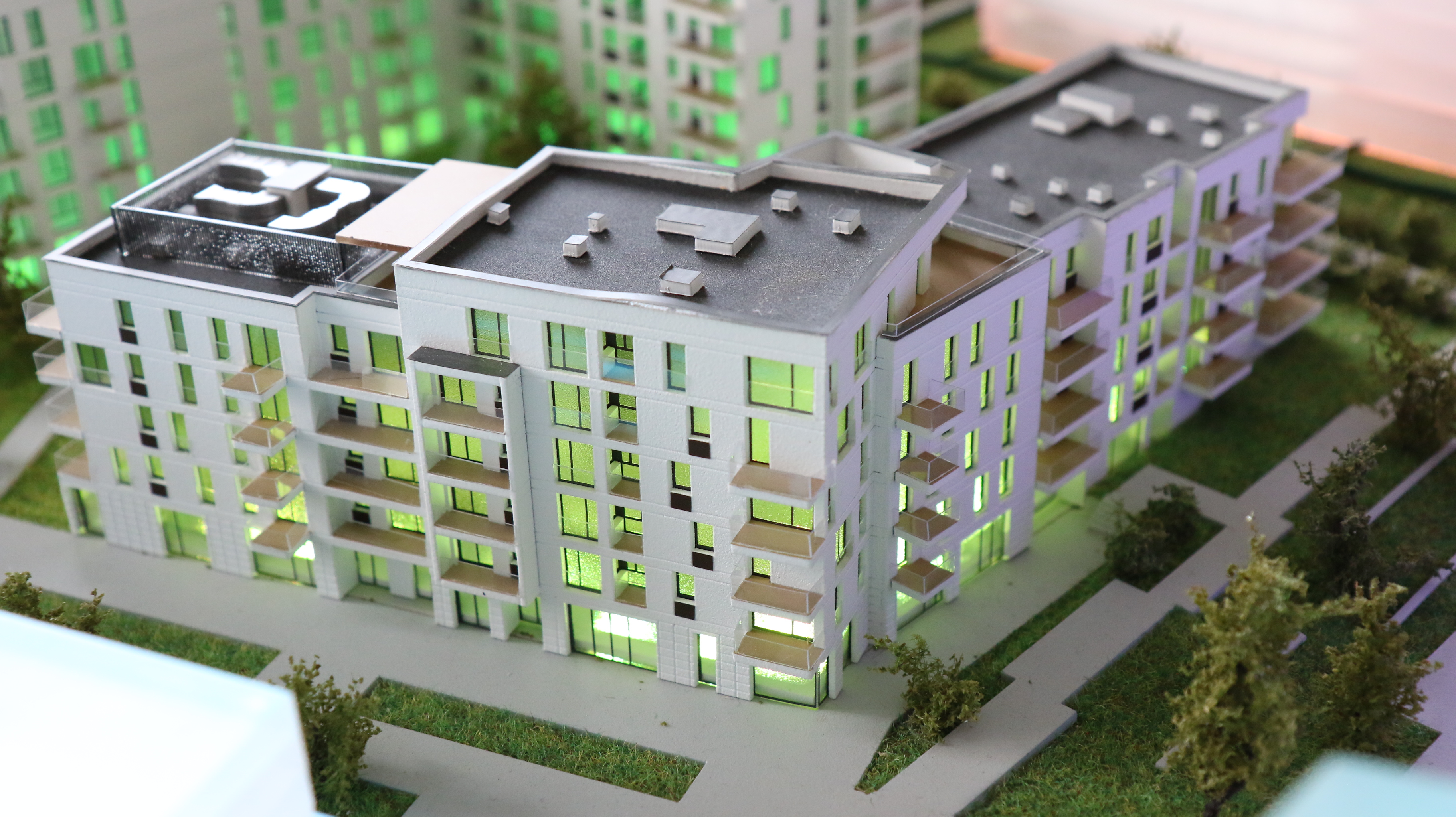 Elewacja na budynkach I etapu inwestycji Platanowy Park