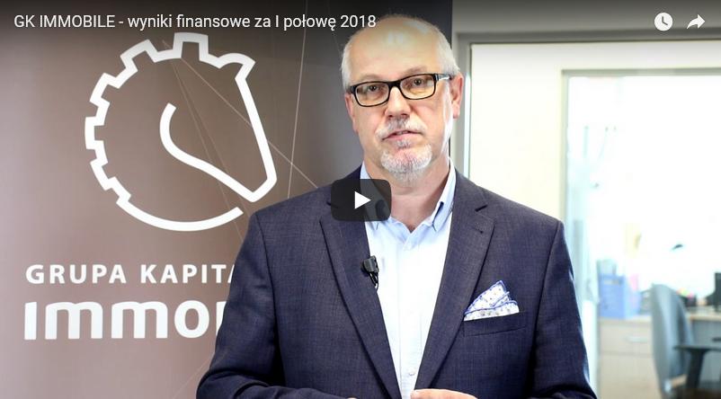 Omówienie wyników spółki za I półrocze 2018 r. (video)