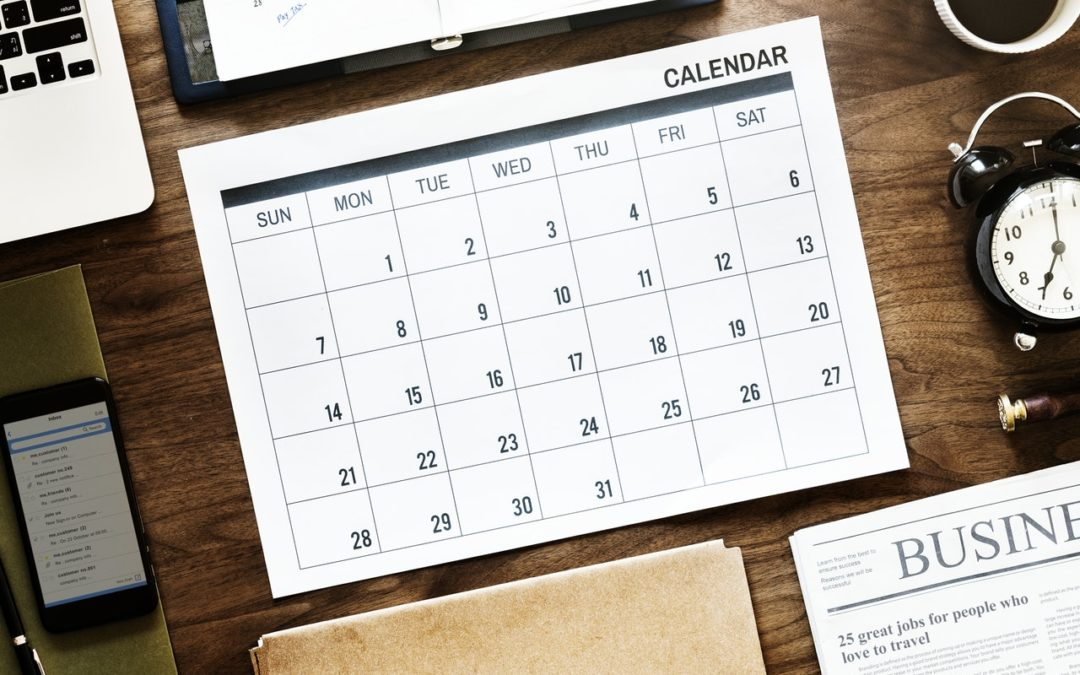 Dates of publication of periodic reports in 2019