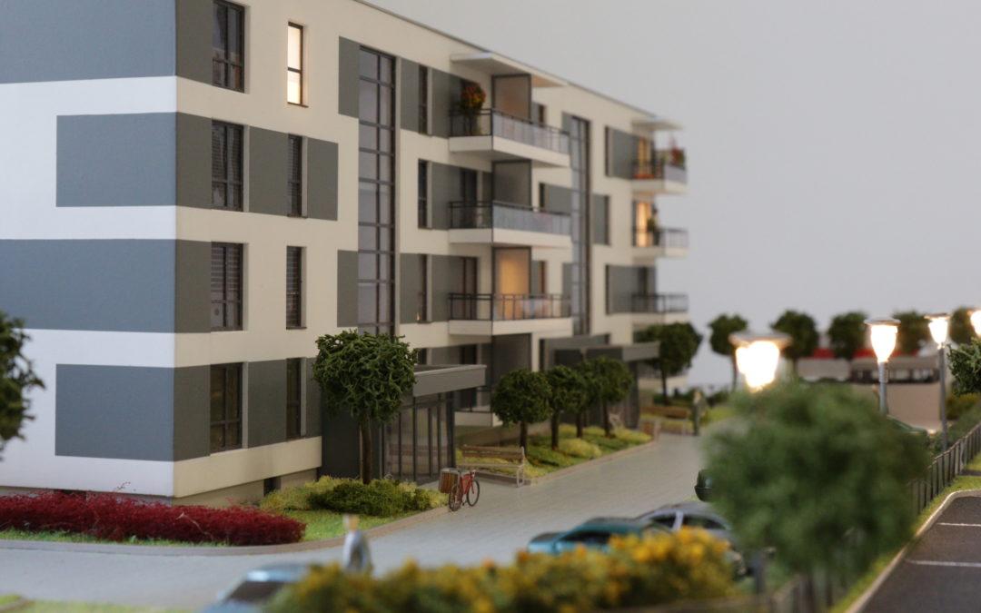 Mock-up of the model building of Osiedle Uniwersyteckie