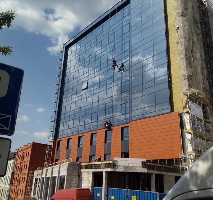 Work progress at the new hotel in Bydgoszcz