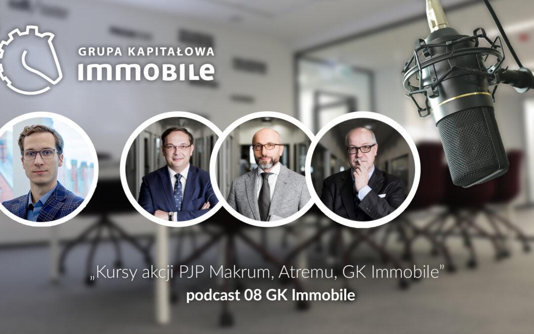 Kursy akcji PJP Makrum, Atremu, GK IMMOBILE – cotygodniowy podcast Grupy Kapitałowej IMMOBILE