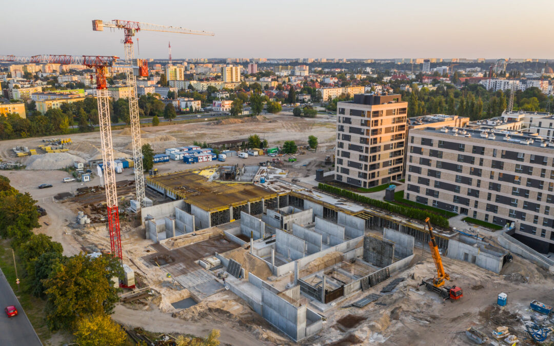 With a view of Bydgoszcz – the dominant feature of the Platanowy Park investment